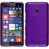Silicone Case for Nokia Lumia 1320 brushed purple
