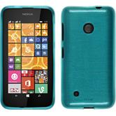 Silicone Case for Nokia Lumia 530 brushed blue