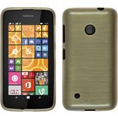 Silicone Case for Nokia Lumia 530 brushed gold