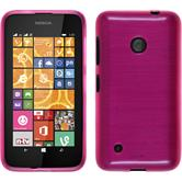 Silicone Case for Nokia Lumia 530 brushed hot pink