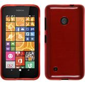 Silicone Case for Nokia Lumia 530 brushed red