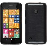 Silicone Case for Nokia Lumia 530 brushed silver