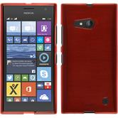 Silicone Case for Nokia Lumia 730 brushed red
