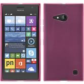 Silicone Case for Nokia Lumia 730 transparent pink