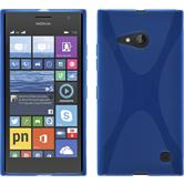 Silicone Case for Nokia Lumia 730 X-Style blue