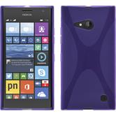 Silicone Case for Nokia Lumia 730 X-Style purple