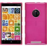 Silicone Case for Nokia Lumia 830 brushed hot pink