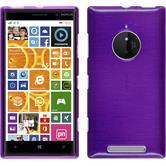 Silicone Case for Nokia Lumia 830 brushed purple