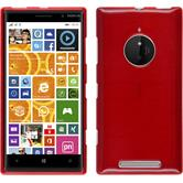 Silicone Case for Nokia Lumia 830 brushed red