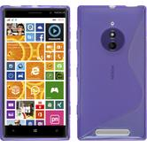 Silicone Case for Nokia Lumia 830 S-Style purple