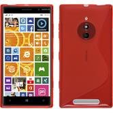 Silicone Case for Nokia Lumia 830 S-Style red