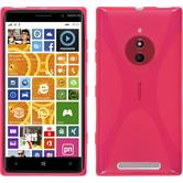 Silicone Case for Nokia Lumia 830 X-Style hot pink
