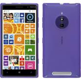 Silicone Case for Nokia Lumia 830 X-Style purple