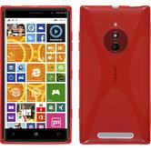 Silicone Case for Nokia Lumia 830 X-Style red