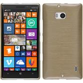 Silicone Case for Nokia Lumia 930 brushed gold