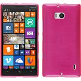 Silicone Case for Nokia Lumia 930 brushed hot pink