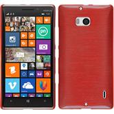 Silicone Case for Nokia Lumia 930 brushed red