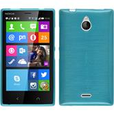 Silicone Case for Nokia X2 brushed blue