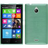 Silicone Case for Nokia X2 brushed green