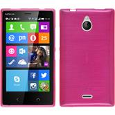 Silicone Case for Nokia X2 brushed hot pink
