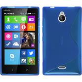 Silicone Case for Nokia X2 S-Style blue