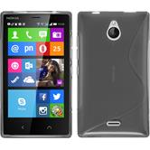 Silicone Case for Nokia X2 S-Style gray