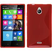 Silicone Case for Nokia X2 S-Style red