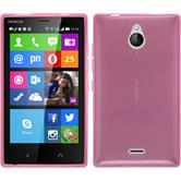 Silicone Case for Nokia X2 transparent pink