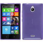 Silicone Case for Nokia X2 transparent purple