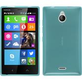Silicone Case for Nokia X2 transparent turquoise