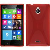 Silicone Case for Nokia X2 X-Style red