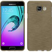 Silicone Case for Samsung Galaxy A3 (2016) brushed gold