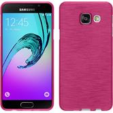 Silicone Case for Samsung Galaxy A3 (2016) brushed hot pink