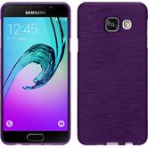 Silicone Case for Samsung Galaxy A3 (2016) brushed purple