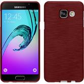 Silicone Case for Samsung Galaxy A3 (2016) brushed red
