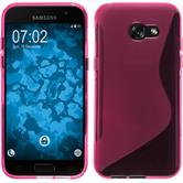 Silicone Case Galaxy A3 2017 S-Style hot pink