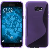 Silicone Case Galaxy A3 2017 S-Style purple