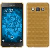 Silicone Case for Samsung Galaxy A3 (A300) Iced gold