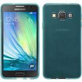 Silicone Case for Samsung Galaxy A3 transparent turquoise
