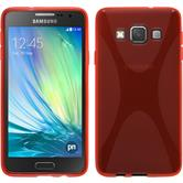 Silicone Case for Samsung Galaxy A3 X-Style red