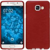 Silicone Case for Samsung Galaxy A5 (2016) brushed red