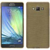 Silicone Case for Samsung Galaxy A7 brushed gold