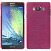 Silicone Case for Samsung Galaxy A7 brushed hot pink