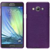 Silicone Case for Samsung Galaxy A7 brushed purple