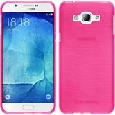 Silicone Case for Samsung Galaxy A8 (2015) brushed hot pink