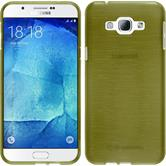 Silicone Case for Samsung Galaxy A8 (2015) brushed pastel green