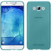 Silicone Case for Samsung Galaxy A8 (2015) transparent turquoise
