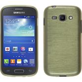 Silicone Case for Samsung Galaxy Ace 3 brushed gold