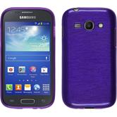 Silicone Case for Samsung Galaxy Ace 3 brushed purple