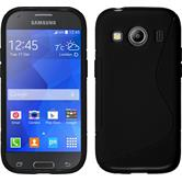 Silicone Case for Samsung Galaxy Ace 4 S-Style black